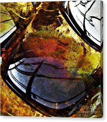 Earth Tones Canvas Print - Glass Abstract 43 by Sarah Loft