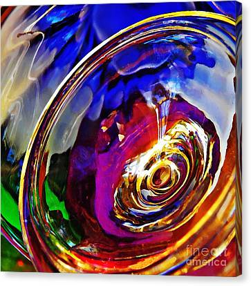 Glass Abstract 549 Canvas Print by Sarah Loft