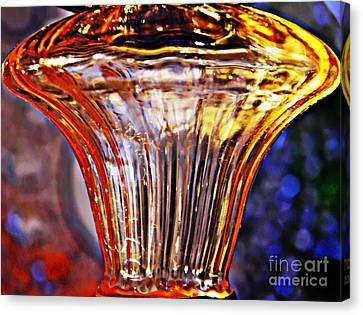 Glass Abstract 562 Canvas Print by Sarah Loft
