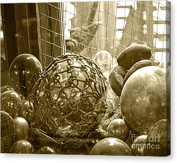 Glass Balls Japanese Glass Buoys Canvas Print by Artist and Photographer Laura Wrede