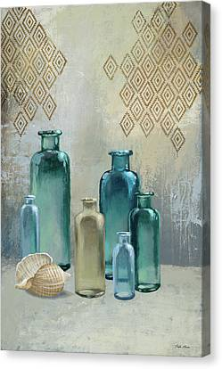 Glass Bottle Canvas Print - Glass Bottles I by Michael Marcon