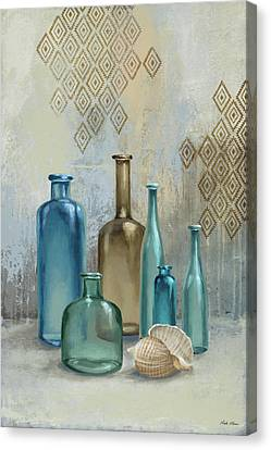 Glass Bottle Canvas Print - Glass Bottles II by Michael Marcon