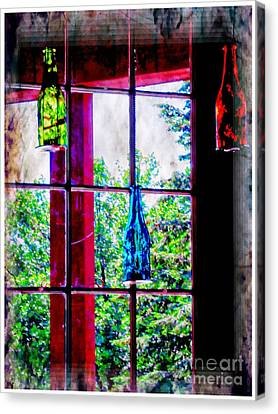 Glass Bottles Canvas Print by Kathleen Struckle