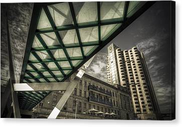 Glass Bridge Canvas Print by Wayne Sherriff
