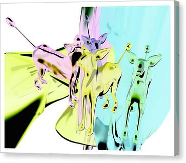 Glass Dogs Canvas Print