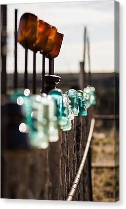 Judge Roy Bean Canvas Print - Glass Fence by Amber Kresge