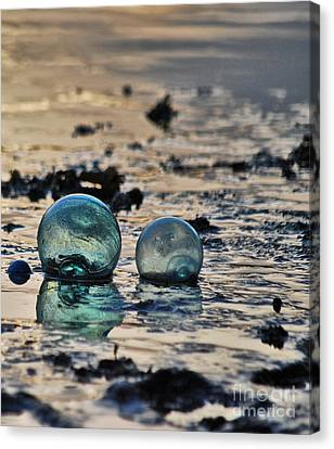 Glass Float At Sunset Canvas Print by Cynthia Lagoudakis