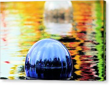 Glass Floats Canvas Print by Elizabeth Budd