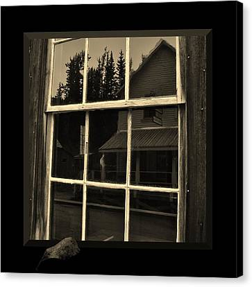 Ghost Image In The Window Canvas Print - Glass Ghost by Barbara St Jean