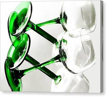 Glass Glow Canvas Print by Camille Lopez