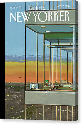 Glass Houses Canvas Print by Bruce McCall