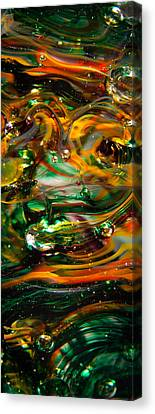 Glass Macro Abstract Ego1 Canvas Print by David Patterson