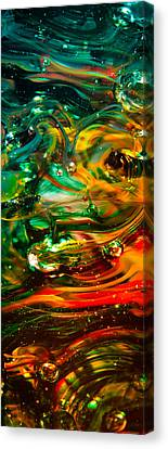 Glass Macro Abstract Ego1ce Canvas Print by David Patterson