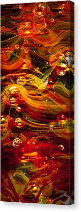 Glass Macro Abstract - Molten Fire Canvas Print by David Patterson