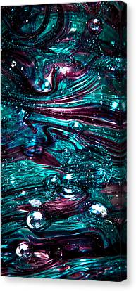 Glass Macro Abstract Rb3 Canvas Print by David Patterson