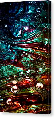 Glass Macro Abstract Rb3ce Canvas Print by David Patterson