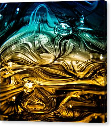 Glass Macro Abstract Rbwce Canvas Print by David Patterson