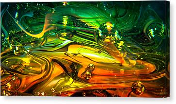 Glass Macro Abstract Rgo1ce2 Canvas Print by David Patterson