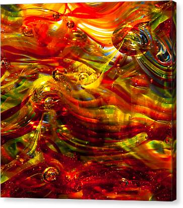Glass Macro - Burning Embers Canvas Print by David Patterson