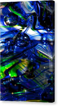 Glass Macro - Seahawks Blue Green Wave Canvas Print by David Patterson