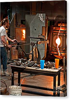 Glass Making  Canvas Print by Valerie Garner