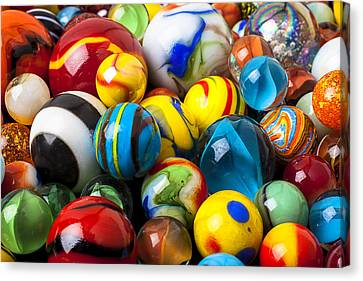 Glass Marbles Canvas Print by Garry Gay