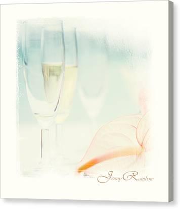 Glass Of Champagne. Elegant Knickknacks From Jennyrainbow Canvas Print