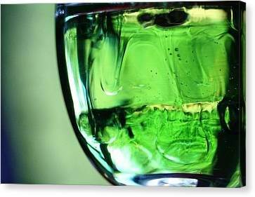 Glass Of Green Canvas Print by Rachelle Johnston