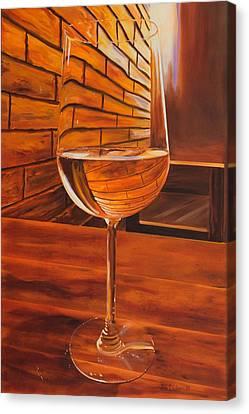 Glass Of Viognier Canvas Print