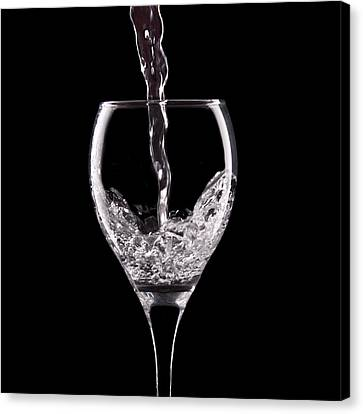 Pouring Wine Canvas Print - Glass Of Water by Tom Mc Nemar