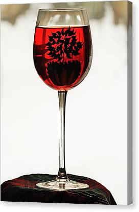 Canvas Print featuring the photograph Glass Of Wine... by Al Fritz