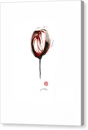 Glass Of Wine Canvas Print - Glass Of Wine Red Purple Black Tulip Flower Burgundy Scarlet Bordeaux Cabernet Watercolors Painting by Johana Szmerdt