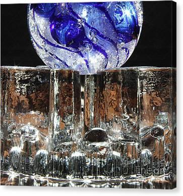 Glass On Glass Canvas Print by Jolanta Anna Karolska