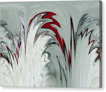 Glass Plumes Canvas Print by Teresa Schomig