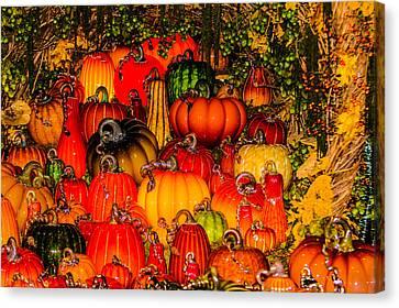Glass Pumpkins Canvas Print