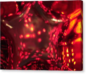 Glass Red And Orange Star Canvas Print