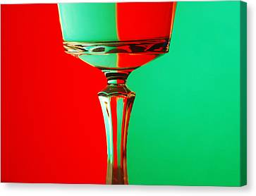 Glass Reflection Canvas Print