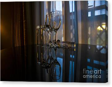 Glass Reflection Canvas Print by Svetlana Sewell
