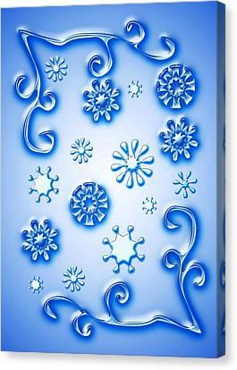 Snowflakes Canvas Print - Glass Snowflakes by Anastasiya Malakhova