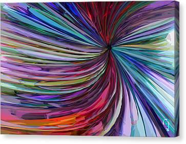 Canvas Print featuring the digital art Glass Wave by Matt Lindley