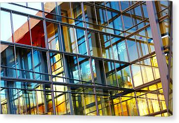 Glass Windows Background Canvas Print by Carlos Caetano