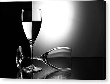 Wine Glass Canvas Print - Glasses by