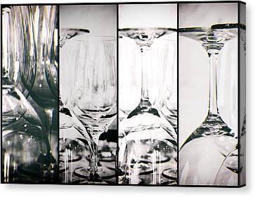 Wine Glasses Collage Canvas Print by Georgia Fowler