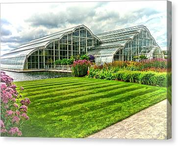 Canvas Print featuring the photograph Glasshouse At Wisley by Paul Gulliver