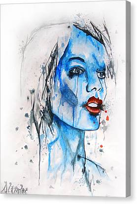 Glassy Girl Canvas Print by Atinderpal Singh