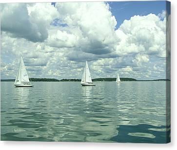 Glassy Sailing Canvas Print by John Wartman