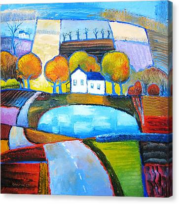 Glastonbury Farmhouse Canvas Print