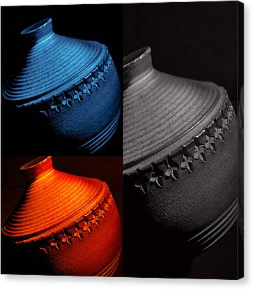 Glazed Pottery...trio Canvas Print by Tom Druin