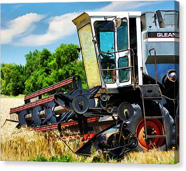 Gleaner F Combine Canvas Print