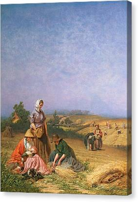 Gleaning Canvas Print by George Elgar Hicks